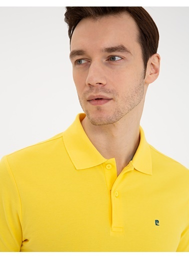 Pierre Cardin Erkek   Tişört G021GL011.000.1286351.VR044 Sarı